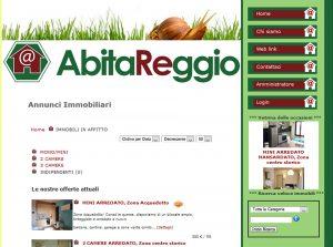 progettazione siti web: sito abitareggio.it